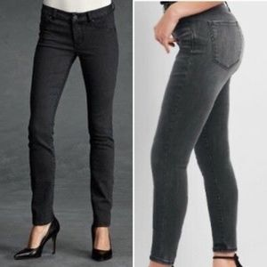 CABI Black Rain Acid Wash Skinny Jeans 10